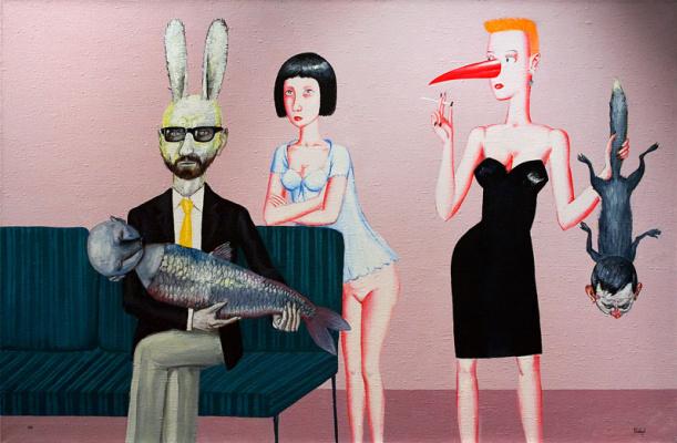 """Victor Dmitrievich Pivovarov. Family portrait. The cycle """"Beauty"""""""