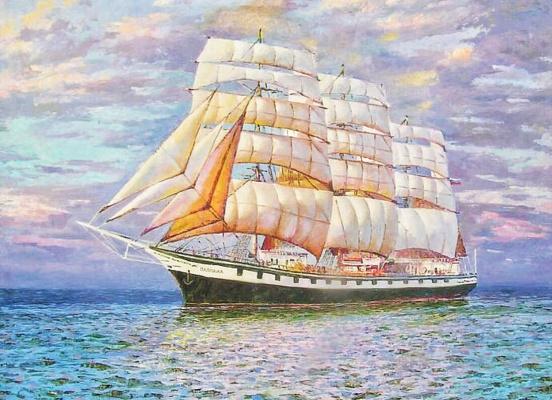 """Boris Tkhanovich Tsoi. Sailboat """"Pallada"""""""