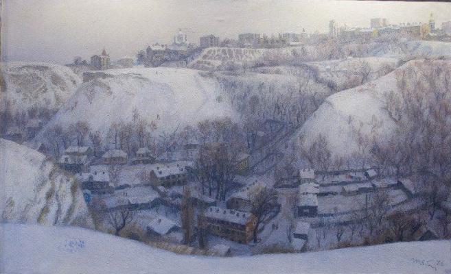 Tetyana Yablonska. Winter in old Kiev