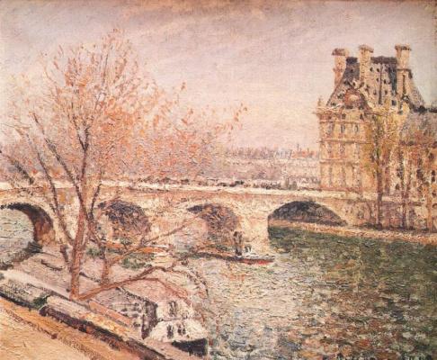 Эдвард Кертис. Мост и Королевский павильон флоры, Париж