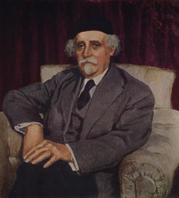 Igor Grabar. Portrait of academician N. D. Zelinsky