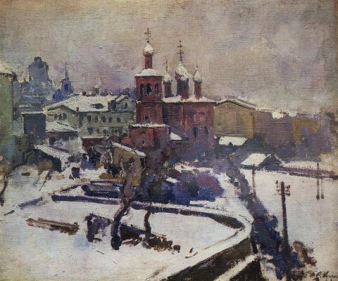 Александр Васильевич Куприн. Зима. Москва (Этюд из окна)