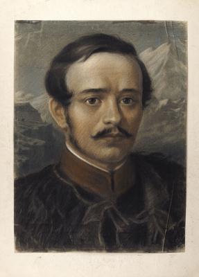 Александр Никитич Парамонов. Портрет М.Ю. Лермонтова. 1941