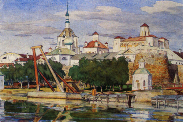 Osip Emmanuilovich (Joseph) Braz. View of the Solovki monastery. Solovki. 1925
