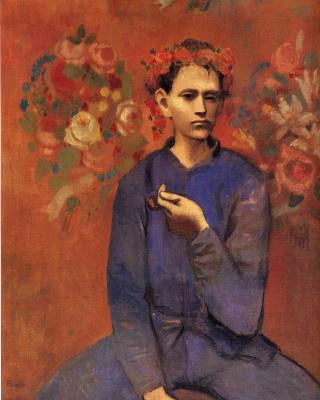 Пабло Пикассо. Венок на голове