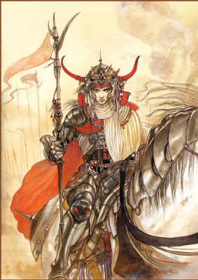 Yoshitaka Amano. Warrior on a horse