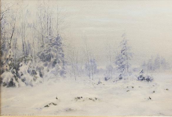 Николай Авенирович Мартынов. Зимний пейзаж. 1899.