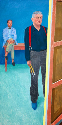 David Hockney. Self-portrait with Charlie
