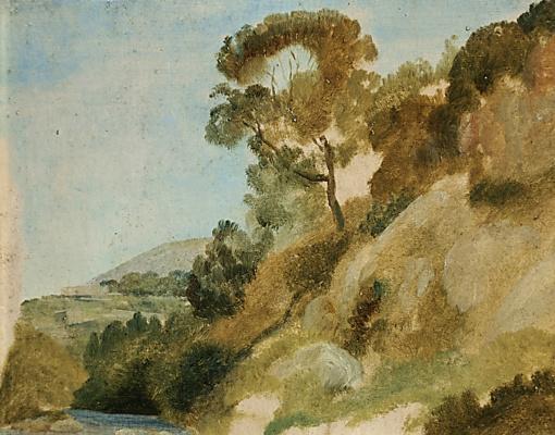 Александр Андреевич Иванов. Дерево на обрывистом берегу. 1831-1834 Этюд