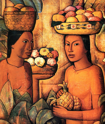 Альфредо Рамос Мартинес. Женщины с фруктами