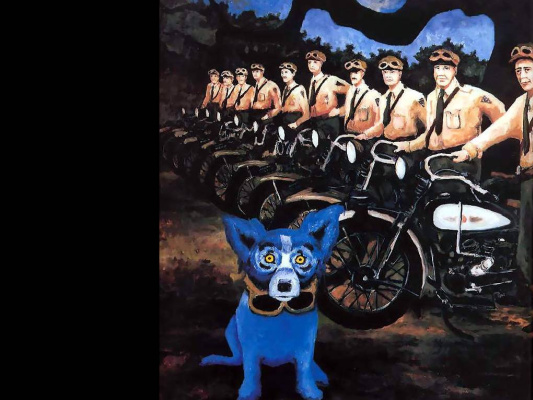 George Rodrigue. Blue собака020
