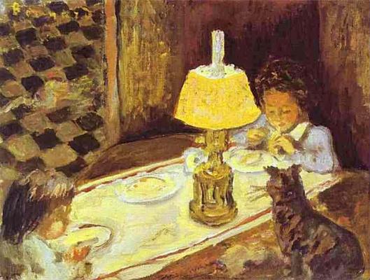 Пьер Боннар. Девочка с котом