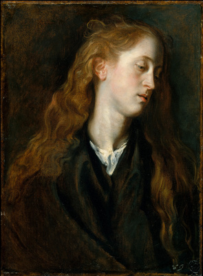 Эскиз головы молодой женщины