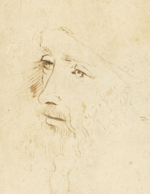 Unknown artist. Portrait of Leonardo da Vinci (?)