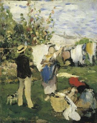 Pál Szinyei Merse. Clothes drying