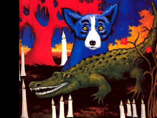 George Rodrigue. Blue собака010