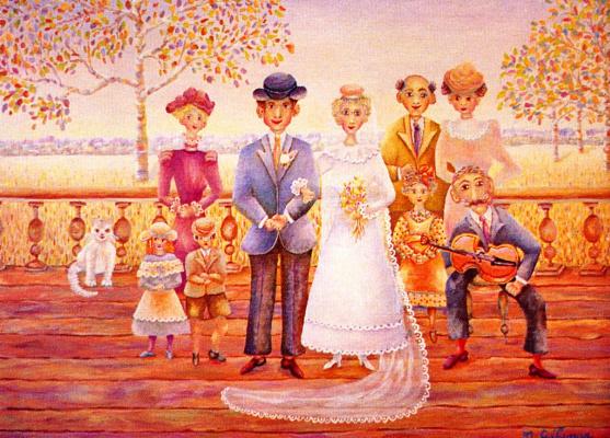Мари Желина. Свадьба