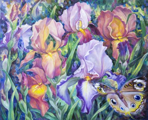 Suray Muradovna Akmuradova. Irises