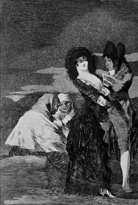 """Francisco Goya. """"Another one"""" (Series """"Caprichos"""", page 5)"""