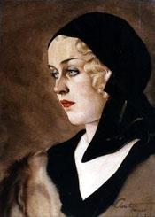 Альберто Варгас. Девушка в черном платке