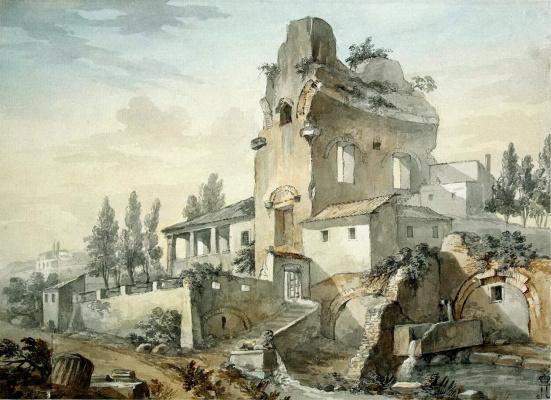 Шарль-Луи Клериссо. Загородный дом на античных развалинах