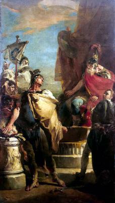 Giovanni Battista Tiepolo. Mucius Stcevola at the Porsenna camp
