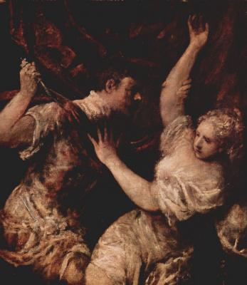 Titian Vecelli. Tarquinius and Lucretia