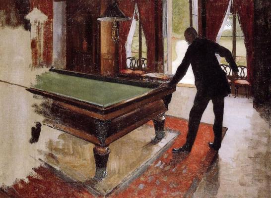 Gustave Caillebotte. Billiards