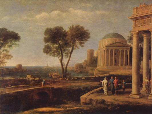 Claude Lorrain. Aeneas on Delos