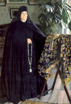 Boris Mikhailovich Kustodiev. Nun