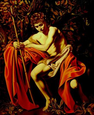 Valery Vasilyevich Litvinov. John the Baptist (copy of Caravaggio)