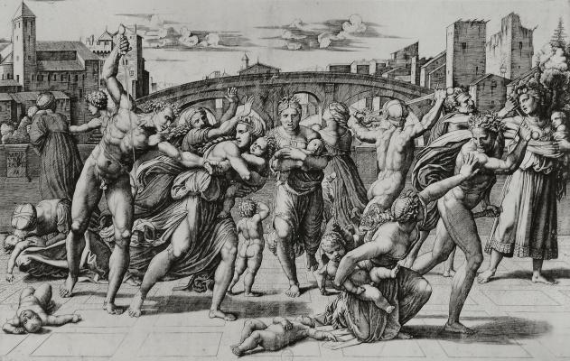 Marcantonio Raimondi. The massacre of the innocents. The engraved work of Raphael