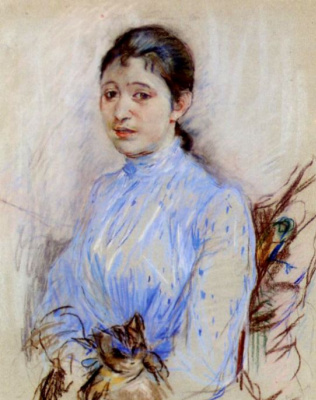 Berthe Morisot. Young Woman In A Blue Blouse