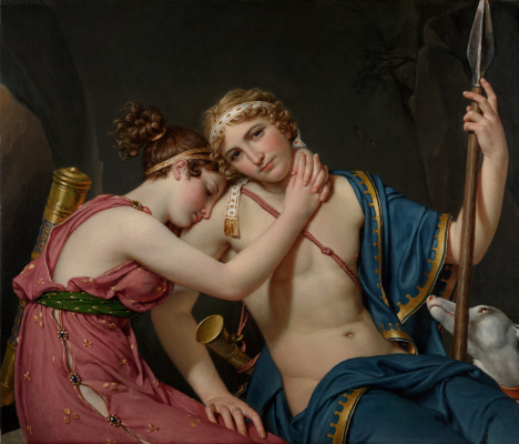 Jacques-Louis David. The farewell of Telemachus and of the Eucharist