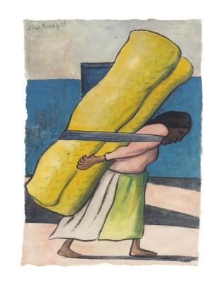 Диего Мария Ривера. Женщина со свертком