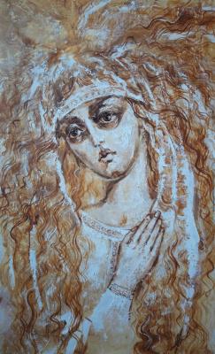 Olga Shatskaya. In orange white