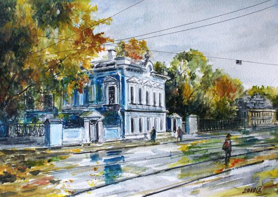 Сергей Владимирович Дорофеев. Autumn on Novokuznetsk (house of K.P. Bakhrushin)