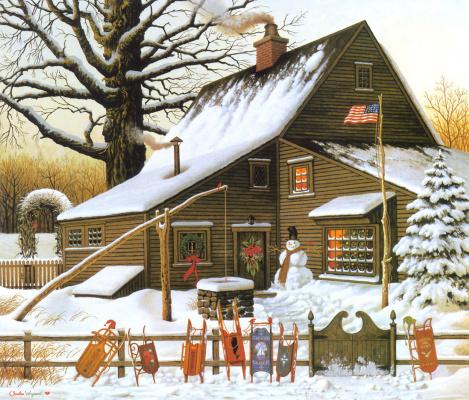 Высоцкий. Дома в снегу