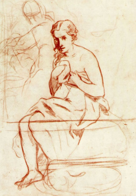 Edouard Manet. The woman behind the toilet