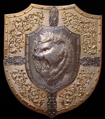 Sergey Filippenko. Shield panels Lion face