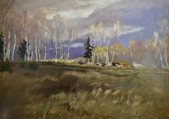 """Alexey Stepanovich Stepanov (1858-1923). """"Early spring. Herd"""" 1907-1909"""