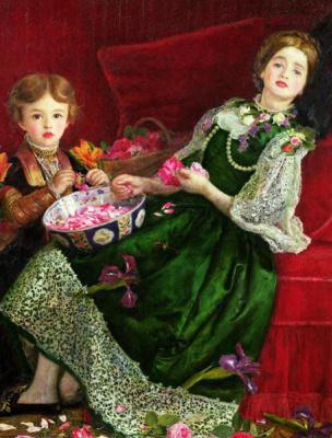 John Everett Millais. Bowl of petals
