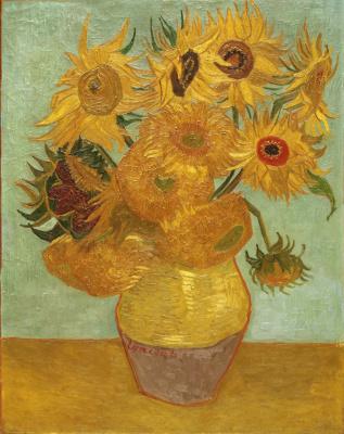 Vincent van Gogh. Vase with sunflowers