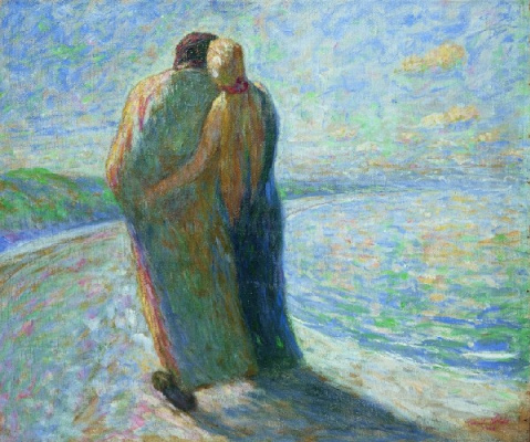 Emil Nolde. Two on the beach