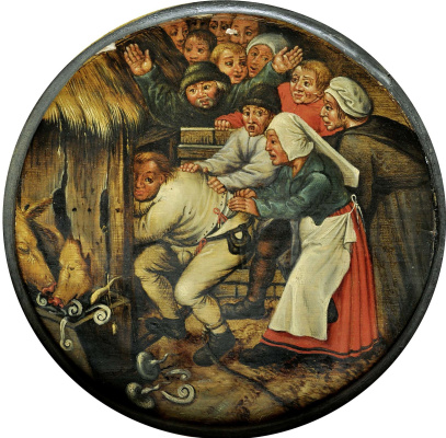 Peter Brueghel The Younger. Punishment. Imprisonment of drunkards in the barn II