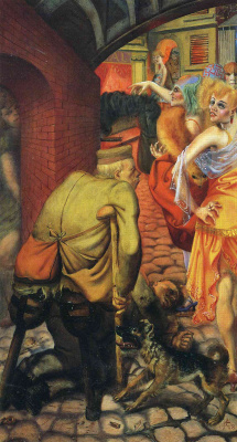 Otto Dix. Lady and the beggar