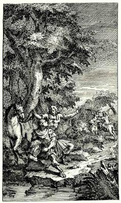 William Hogarth. Under the tree