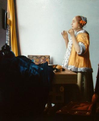 Давид Эпштэйн. Девушка с жемчужным ожерельем