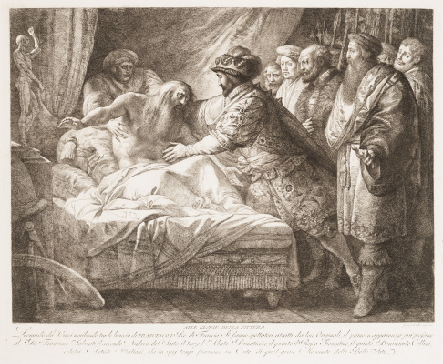 Джузеппе Кадес. Аллегория живописи (Смерть Леонардо да Винчи)