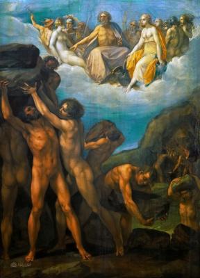 Чезари Джузеппе (Кавалер д'Арпино). Гиганты, штурмующие Олимп. ок.1630